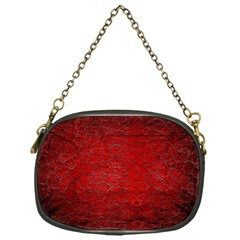 Red Grunge Texture Black Gradient Chain Purses (one Side)