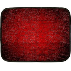 Red Grunge Texture Black Gradient Double Sided Fleece Blanket (mini)