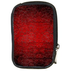 Red Grunge Texture Black Gradient Compact Camera Cases