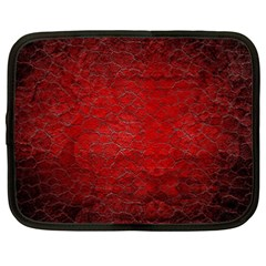 Red Grunge Texture Black Gradient Netbook Case (xxl)