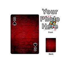 Red Grunge Texture Black Gradient Playing Cards 54 (mini)