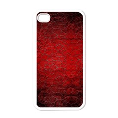 Red Grunge Texture Black Gradient Apple Iphone 4 Case (white)