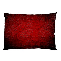 Red Grunge Texture Black Gradient Pillow Case (two Sides)