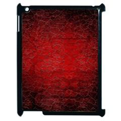 Red Grunge Texture Black Gradient Apple Ipad 2 Case (black)
