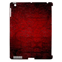 Red Grunge Texture Black Gradient Apple Ipad 3/4 Hardshell Case (compatible With Smart Cover)