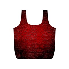 Red Grunge Texture Black Gradient Full Print Recycle Bags (s)
