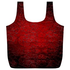 Red Grunge Texture Black Gradient Full Print Recycle Bags (l)