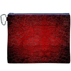 Red Grunge Texture Black Gradient Canvas Cosmetic Bag (xxxl)