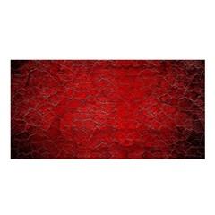 Red Grunge Texture Black Gradient Satin Shawl