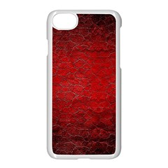 Red Grunge Texture Black Gradient Apple Iphone 7 Seamless Case (white)