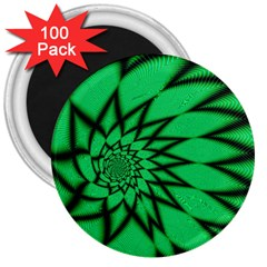 The Fourth Dimension Fractal 3  Magnets (100 Pack)