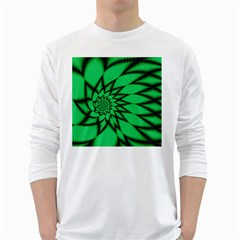 The Fourth Dimension Fractal White Long Sleeve T Shirts