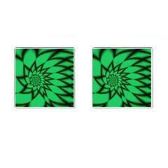 The Fourth Dimension Fractal Cufflinks (square)