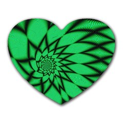 The Fourth Dimension Fractal Heart Mousepads