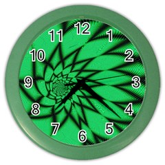 The Fourth Dimension Fractal Color Wall Clocks
