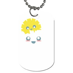 Cloud Cloudlet Sun Sky Milota Dog Tag (two Sides)