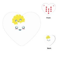 Cloud Cloudlet Sun Sky Milota Playing Cards (heart)
