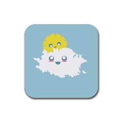 Cloud Cloudlet Sun Sky Milota Rubber Square Coaster (4 Pack)