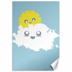 Cloud Cloudlet Sun Sky Milota Canvas 20  X 30