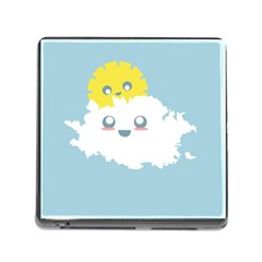 Cloud Cloudlet Sun Sky Milota Memory Card Reader (square)