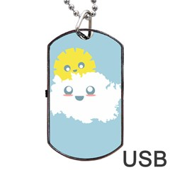 Cloud Cloudlet Sun Sky Milota Dog Tag Usb Flash (two Sides)