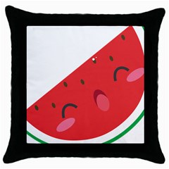 Watermelon Red Network Fruit Juicy Throw Pillow Case (black)