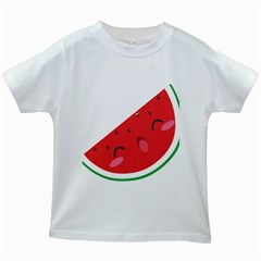 Watermelon Red Network Fruit Juicy Kids White T Shirts