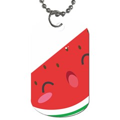 Watermelon Red Network Fruit Juicy Dog Tag (one Side)