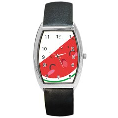 Watermelon Red Network Fruit Juicy Barrel Style Metal Watch