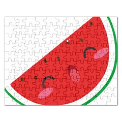 Watermelon Red Network Fruit Juicy Rectangular Jigsaw Puzzl