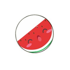 Watermelon Red Network Fruit Juicy Hat Clip Ball Marker (4 Pack)
