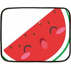 Watermelon Red Network Fruit Juicy Fleece Blanket (mini)