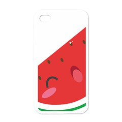 Watermelon Red Network Fruit Juicy Apple Iphone 4 Case (white)