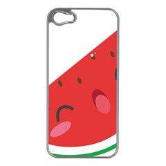 Watermelon Red Network Fruit Juicy Apple Iphone 5 Case (silver)