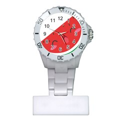 Watermelon Red Network Fruit Juicy Plastic Nurses Watch
