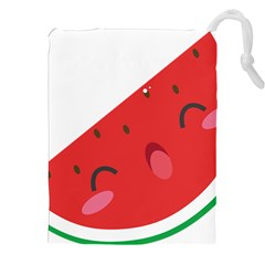 Watermelon Red Network Fruit Juicy Drawstring Pouches (xxl)