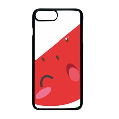 Watermelon Red Network Fruit Juicy Apple Iphone 7 Plus Seamless Case (black)