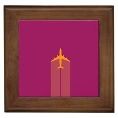 Airplane Jet Yellow Flying Wings Framed Tiles