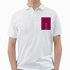 Airplane Jet Yellow Flying Wings Golf Shirts