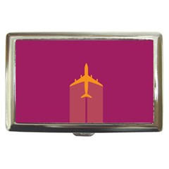 Airplane Jet Yellow Flying Wings Cigarette Money Cases
