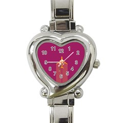 Airplane Jet Yellow Flying Wings Heart Italian Charm Watch
