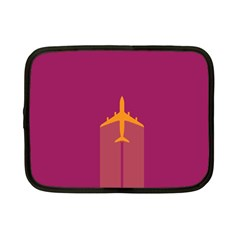 Airplane Jet Yellow Flying Wings Netbook Case (small)
