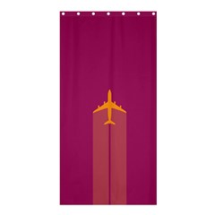 Airplane Jet Yellow Flying Wings Shower Curtain 36  X 72  (stall)