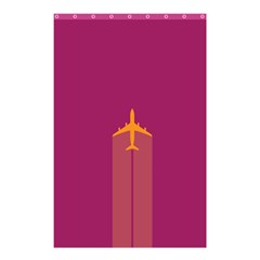 Airplane Jet Yellow Flying Wings Shower Curtain 48  X 72  (small)