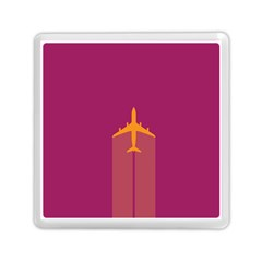Airplane Jet Yellow Flying Wings Memory Card Reader (square)
