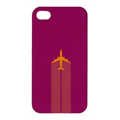 Airplane Jet Yellow Flying Wings Apple Iphone 4/4s Hardshell Case
