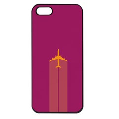 Airplane Jet Yellow Flying Wings Apple Iphone 5 Seamless Case (black)