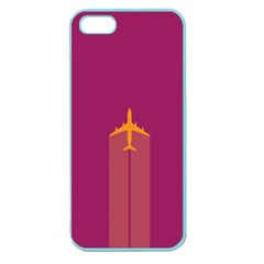 Airplane Jet Yellow Flying Wings Apple Seamless Iphone 5 Case (color)