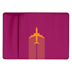Airplane Jet Yellow Flying Wings Samsung Galaxy Tab 10 1  P7500 Flip Case