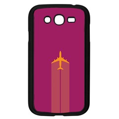 Airplane Jet Yellow Flying Wings Samsung Galaxy Grand Duos I9082 Case (black)